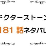 最新ネタバレ『Dr.STONE(ドクターストーン)』181-182話!考察!数多の石化装置!ステルス艦で未来のクラフト!!